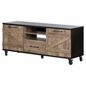 South Shore Valet Industrial TV Stand on Wheels