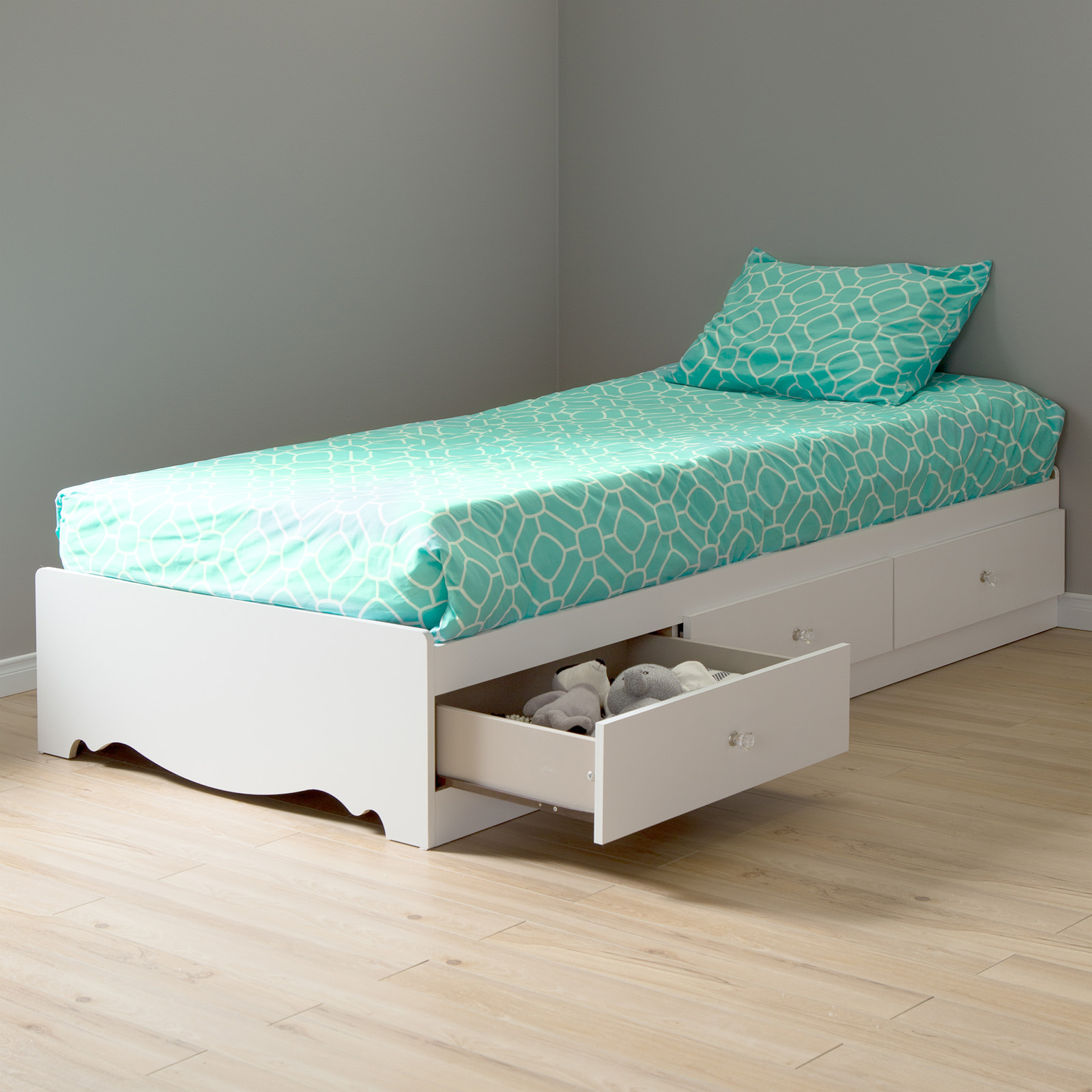 white twin platform bed s