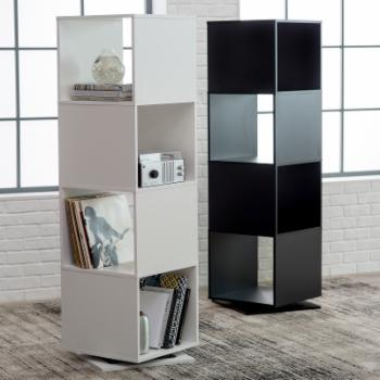 Finley Home Hudson 4 Cube Rotating Bookcase