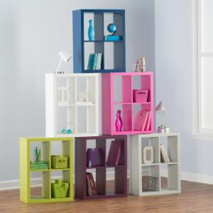 classic playtime 4 cube bookcase - Kid Bookshelves