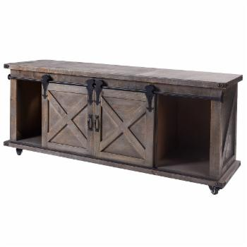 StyleCraft Presley Barn Door TV Stand