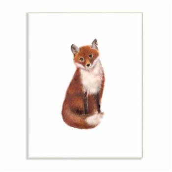 The Stupell Home Decor Collection Red Fox Watercolor Illustration Wall Art