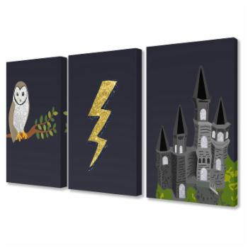 The Stupell Home Decor Collection The Kids Room Wizardry 3 Piece Wall Panel Set