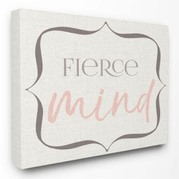 The Stupell Home Decor Collection The Kids Room by Stupell Elegant Fierce Mind Wall Art