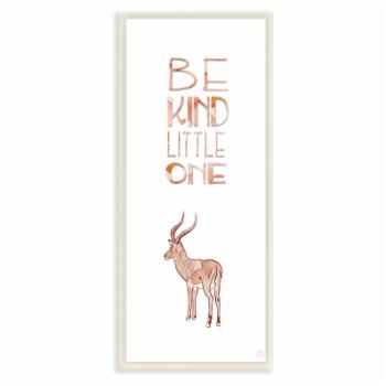 The Stupell Home Decor Collection Be Kind Little One Antelope Wall Plaque Art