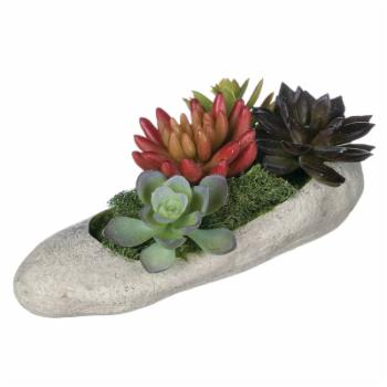 Sullivans Artificial Succulents In Rock Arrangement