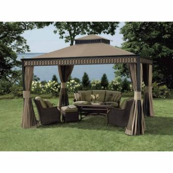 Sunjoy 10 x 12 ft. Replacement Canopy Cover for L-GZ399PAL-1B - Deluxe Alum Fabric Gazebo