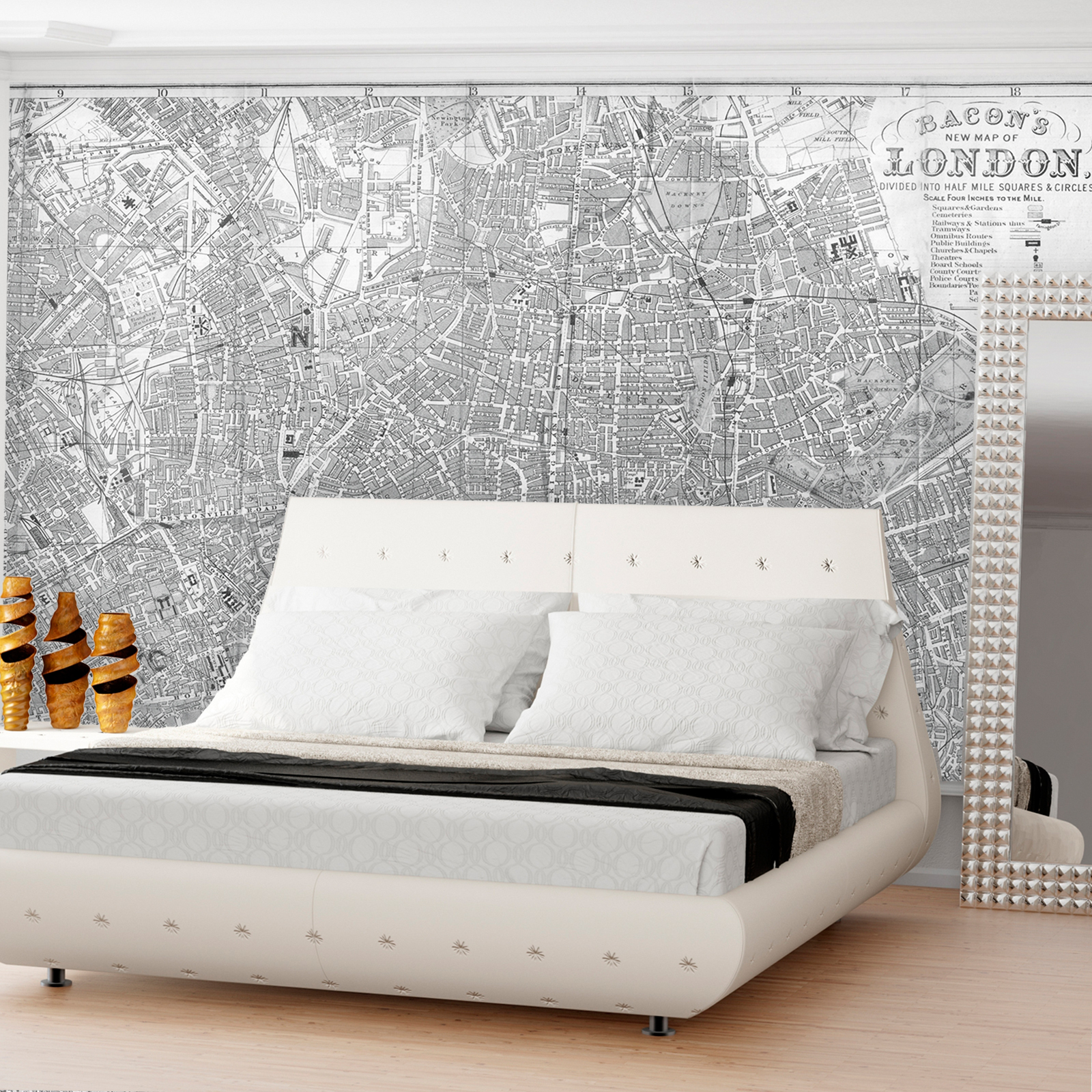 Swag Paper Map Of 1865 Sanitary Topographical New York Self Adhesive Wallpaper Hayneedle