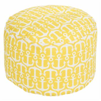Surya 20 x 20 in. Outdoor Anchor Round Pouf