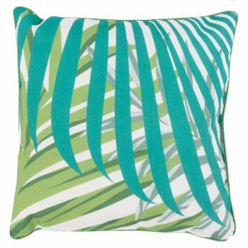 Surya Ulani Leaves Square Indoor/Outdoor Pillow