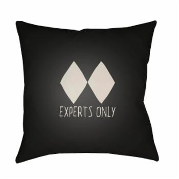 Surya Experts Only Black Diamond Outdoor Pillow