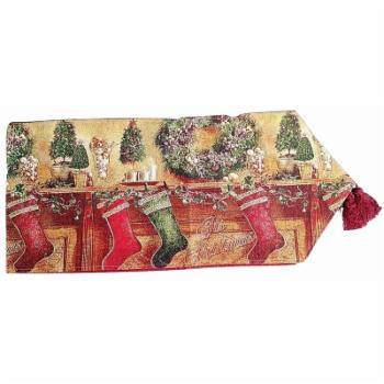 Tache Home Fashion Holiday Decorative Christmas Hung With Care Table Runner