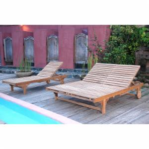 Anderson Teak Bel Air Sun Double Chaise Lounge Chair
