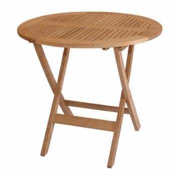 Anderson Teak Windsor Round Folding Picnic Table