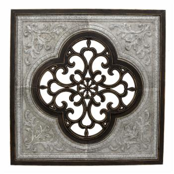 Three Hands Metal and Wood Black Wall Decor