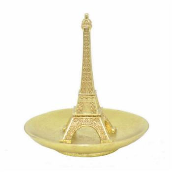 Three Hands Gold Eiffel Tower Ring Holder