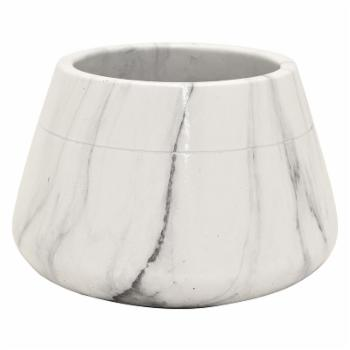 Three Hands Marble Look Round Flower Pot