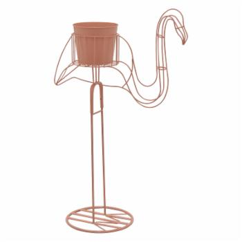 Three Hands Flamingo Plant Stand