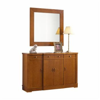 Panamar Accord 4 Drawer Dining Sideboard with Optional Mirror
