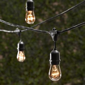 String Of Lights Outdoor Outdoor string lights hayneedle string light company vintage metro outdoor string lights workwithnaturefo
