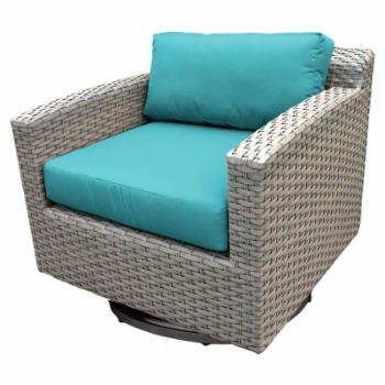 TK Classics Florence All Weather Wicker Outdoor Swivel Chair