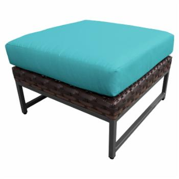 TK Classics Barcelona Wicker Outdoor Ottoman