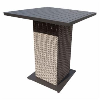 TK Classics Oasis Outdoor Wicker Pub Table