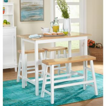 Galena 4 Piece Counter Height Dining Table Set