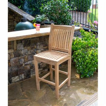 Tortuga Outdoor Teak Outdoor Bar Chair