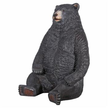 Design Toscano Sitting Pretty Oversized Black Bear Statue