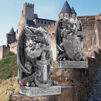Design Toscano The Arthurian Dragon Statue Set