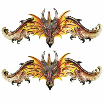 Design Toscano Kingsbridge Manor Dragon Pediments - Set of 2
