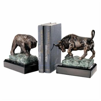 Design Toscano The Bull and Bear of Wall Street Sculpture - Set of 2