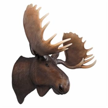 Design Toscano North American Majestic Moose Trophy Head Wall Sculpture