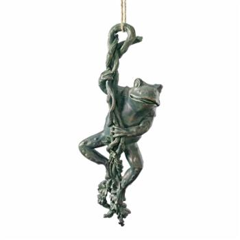 Design Toscano The Daring Dangling Frog Statue