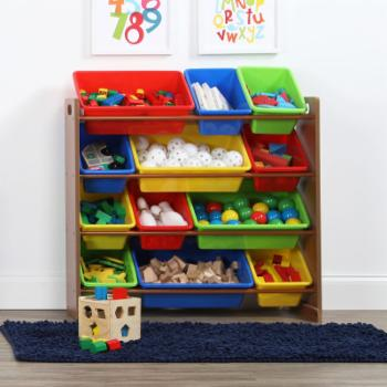 Tot Tutors Highlight Kids Toy Storage Organizer with Plastic Bins