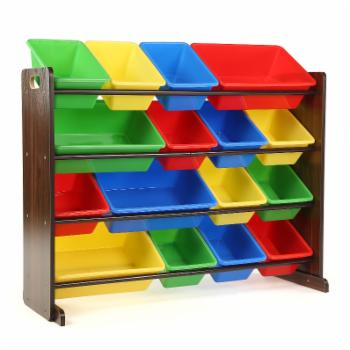 Tot Tutors Discover Super-Sized Kids Toy Storage Organizer with 16 Bins