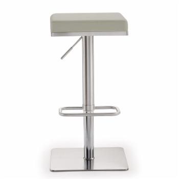 TOV Furniture Bari Light Grey Steel Adjustable Barstool