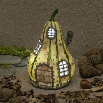 Suntime Solar Powered LED Fairy Dwellings Home of Petal Flamewand
