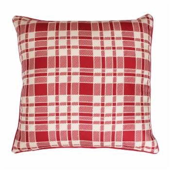 Thro by Marlo Lorenz Plaid Printed Faux Linen Decorative Pillow