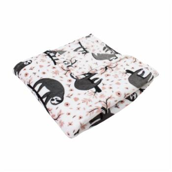 Sandro Sloth Printed Flannel Fleece Blanket by Thro by Marlo Lorenz