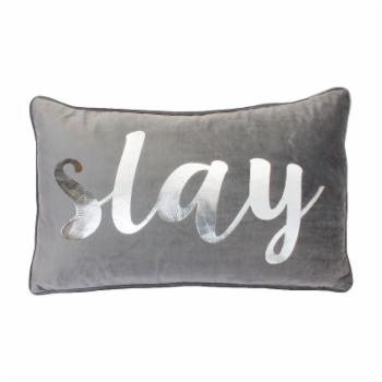 Suzy Slay Script Velvet Decorative Pillow by Thro by Marlo Lorenz