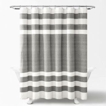 Lush Decor Cape Cod Stripe Cotton Shower Curtain