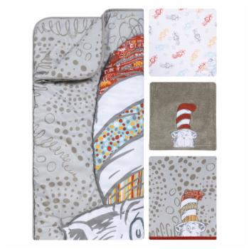Dr. Seuss Peek-a-Boo Cat in the Hat 4 Piece Crib Bedding Set by Trend Lab