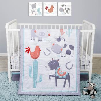 Farmstead Friends 4 Piece Crib Bedding Set by Sammy and Lou