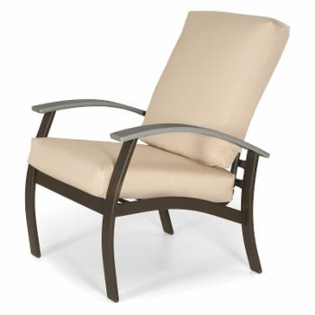 Telescope Casual Belle Isle Cushion Arm Chair with MGP Graphite Accents