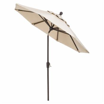 Telescope Casual 7.5 ft. Sunbrella Powder Coated Aluminum Frame Round Umbrella with Push Button Tilt
