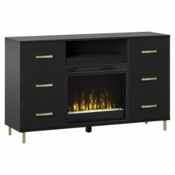 Twin Star Home Electric Fireplace TV Stand