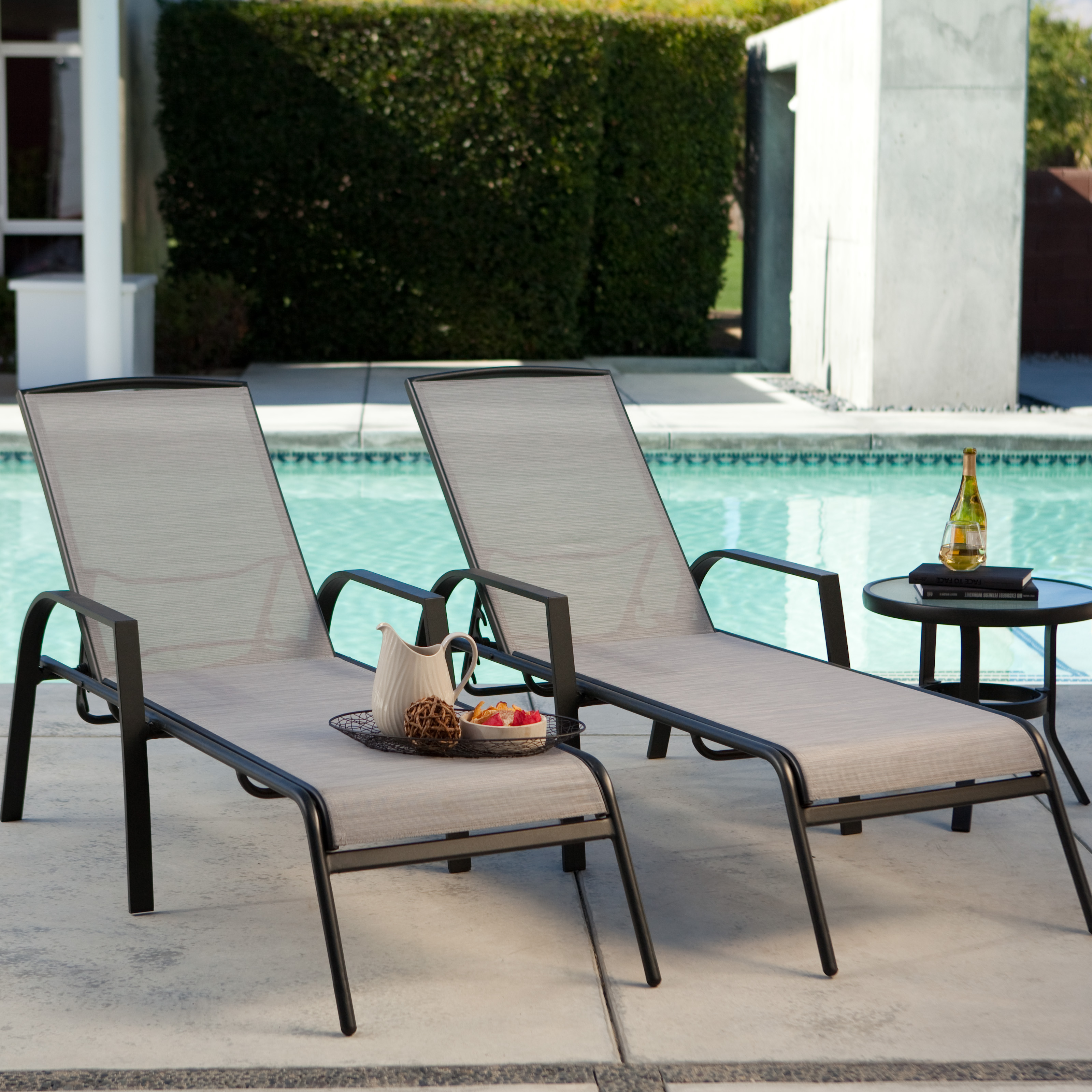 Coral Coast Metropolitan Poolside Chaise Lounge   Set Of 2