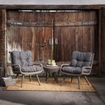 Belham Living Rio All Weather Wicker Chat Set